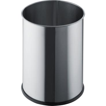 "helit ""the base"" Edelstahl-Papierkorb, 15 Liter"