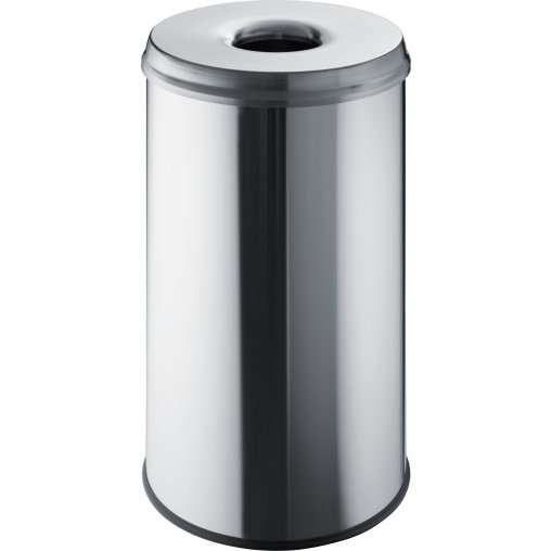 "helit ""the guardian"" Edelstahl-Papierkorb, 50 Liter"