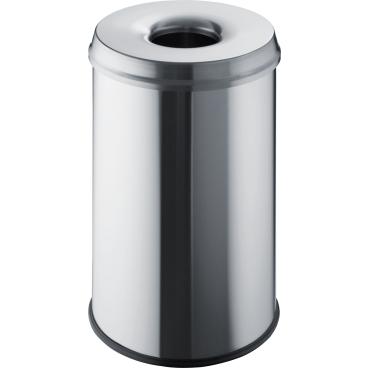 "helit ""the guardian"" Edelstahl-Papierkorb, 30 Liter"