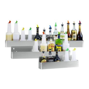 Speed Rack Flaschenregal, Edelstahl Maße (B x H x T): 56 x 16 x 10 cm, 5-6 Flaschen