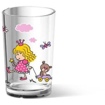 EMSA Kids Kinderglas, 200 ml Farbe: Rosa, Motiv: Princess