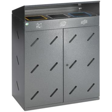 VAR Wertstoff-Sammelstation WS 89, 3-Fach Einwurf, 300 Liter