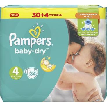 Pampers Baby Dry Maxi Windeln 8-16 kg, Größe 4