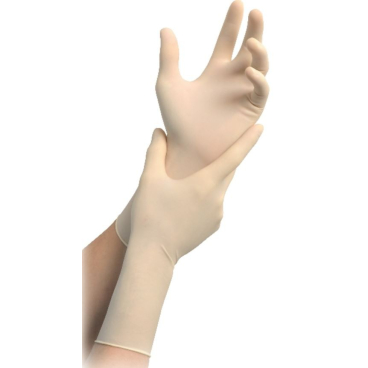 MaiMed® - Tex - steril Einmal OP-Handschuhe, Latex 1 Karton = 4 Packungen = 200 Paar, Größe 6