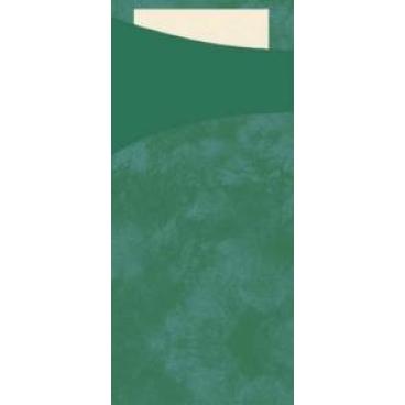"""DUNI Serviettentaschen """"Sacchetto"""", Tissue jägergrün"""