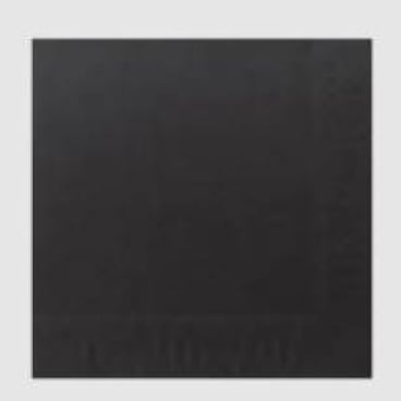 DUNI DUNILIN Servietten, 1/4 Falz, 40 x 40 cm schwarz