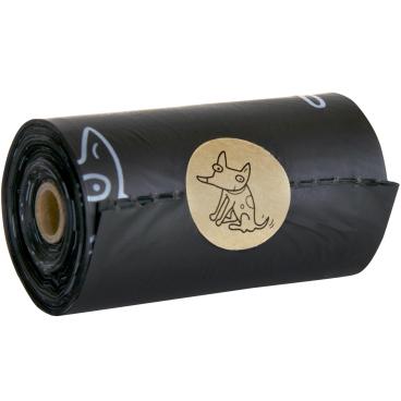 TSP Bio Hundekotbeutel Comfort, schwarz, 23 x 33 cm 1 Box = 8 Rollen à 15 Stück = 120 Beutel