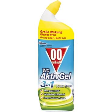 00 WC Aktiv Gel 3in1 WC-Reiniger 750 ml - Flasche, Fresh Green