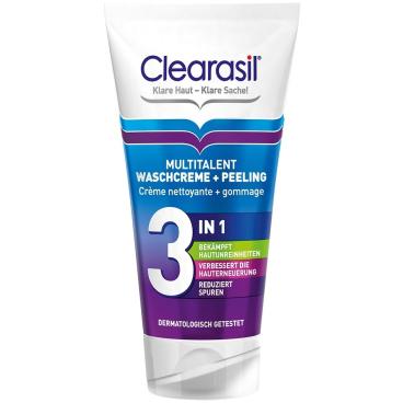 Clearasil Multitalent Waschcreme & Peeling