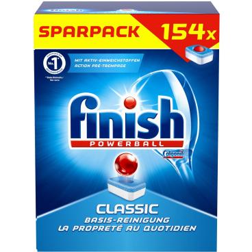 Finish Calgonit Powerball Classic Geschirrspültabs 1 Sparpack = 154 Tabs, 2510 g