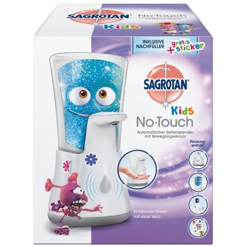SAGROTAN No Touch Kids Automatischer Seifenspender + Nachfüller