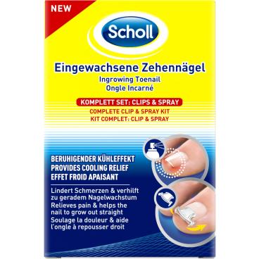 Scholl Clip&Spray Eingewachsene Zehennägel Komplett Set