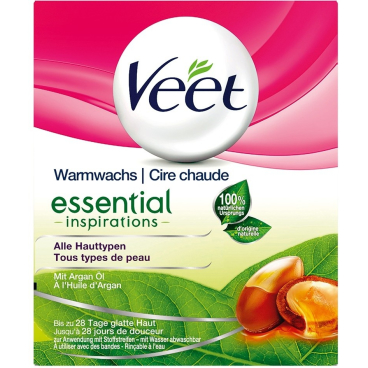 Veet Warmwachs natural inspirations mit Argan Öl, 250 ml