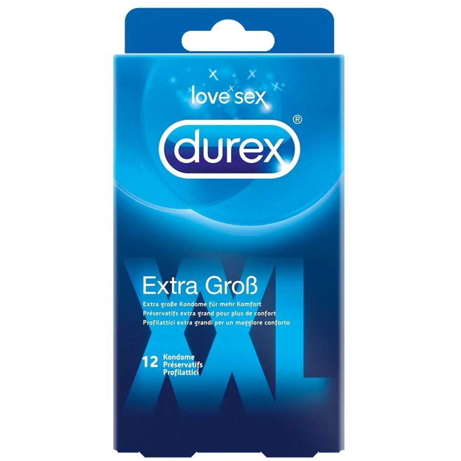 durex xxl extra gro e kondome 1 packung 12 st ck online. Black Bedroom Furniture Sets. Home Design Ideas