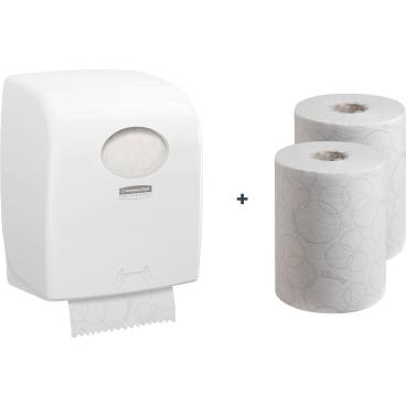 "Kimberly-Clark Aktionsset ""Komfort"" Handtuchpapier + Spender"