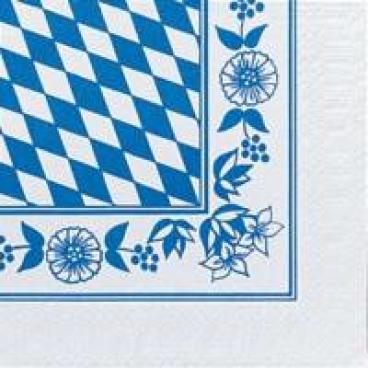 DUNI Zelltuch-Servietten mit Motiv, 33 x 33 cm Bayer.Raute