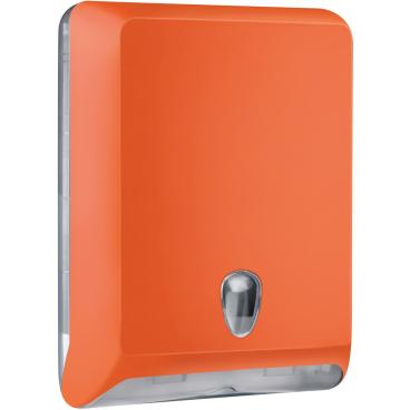 racon® Colored-Edition designo L Falthandtücherspender Kunststoff, Farbe: orange