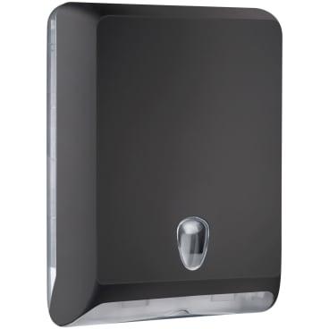 racon® Colored-Edition designo L Falthandtücherspender Kunststoff, Farbe: schwarz