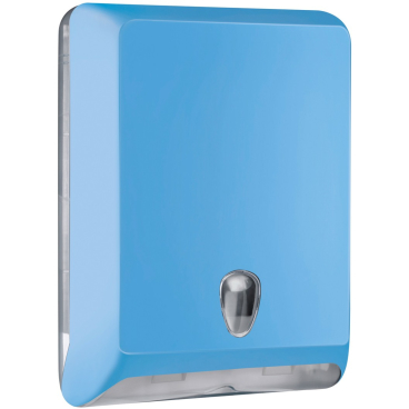 racon® Colored-Edition designo L Falthandtücherspender Kunststoff, Farbe: hellblau