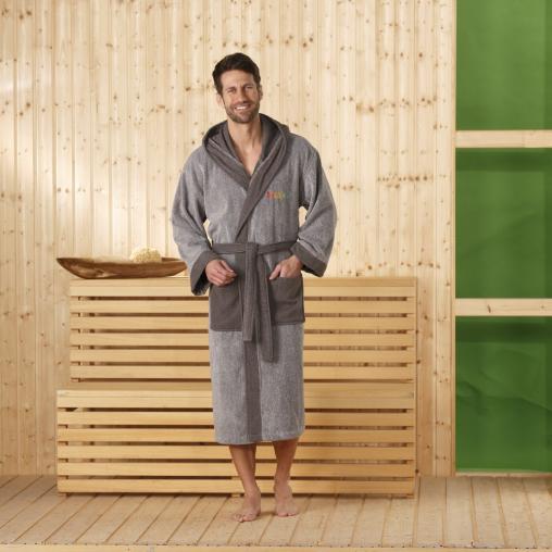 Gözze Kapuzen Sauna- und Wellnessbademantel