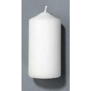 DUNI Stumpenkerzen, rund, gerade Form 1 Karton = 6 x 10 Stück, Farbe: weiß