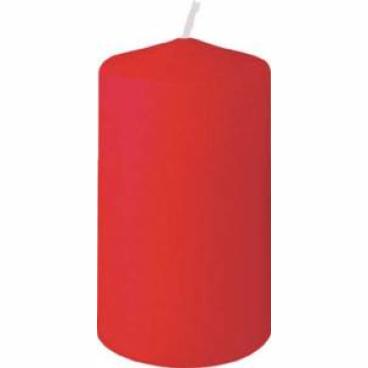 DUNI Stumpenkerzen, rund, gerade Form 1 Karton = 6 x 10 Stück, Farbe: rot