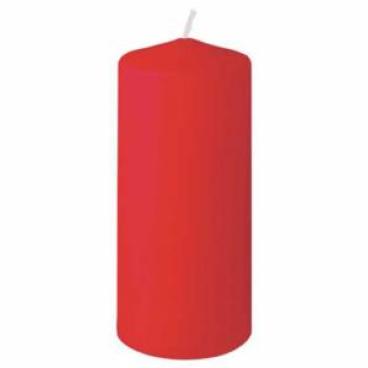 DUNI Stumpenkerzen, rund, gerade Form 1 Karton = 2 x 6 Stück = 12 Kerzen,  rot