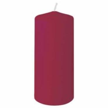 DUNI Stumpenkerzen, rund, gerade Form 1 Karton = 2 x 6 Stück = 12 Kerzen, bordeaux