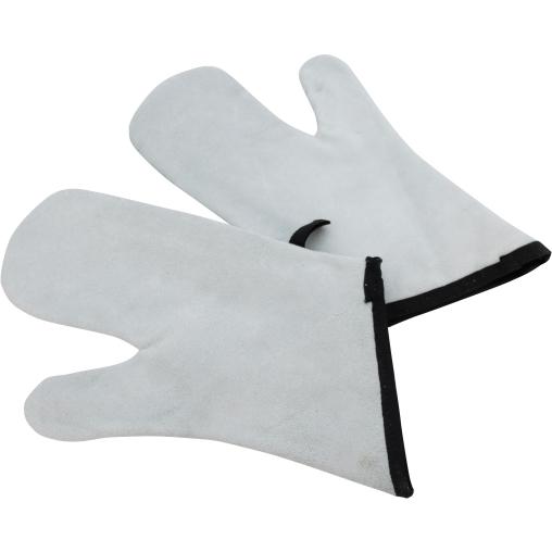 SCHNEIDER Leder Backhandschuhe, grau, 360 mm