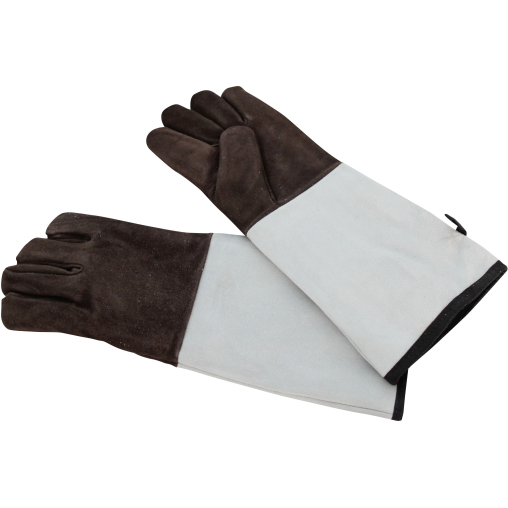 SCHNEIDER Leder Backhandschuhe, 5 Finger, braun, 450 mm
