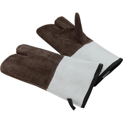 SCHNEIDER Leder Backhandschuhe, 3 Finger, braun, 340 mm