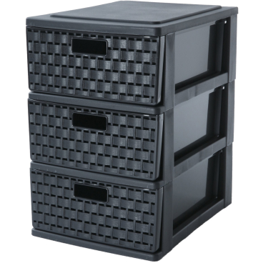 Rotho COUNTRY Schubladenbox, schwarz
