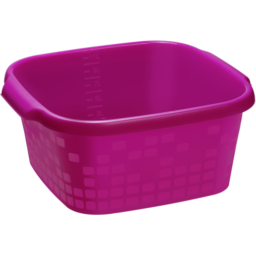 Rotho GEOMETRIC Becken, eckig, pink