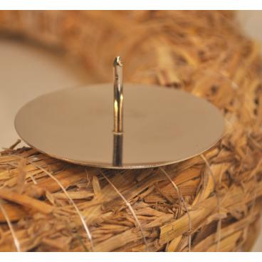 Metall-Kerzenteller, silber, Ø 50 mm