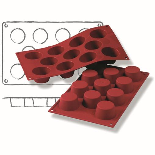 SCHNEIDER Silikon-Backform, Mini-Muffin, rot