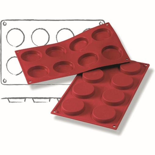 SCHNEIDER Silikon-Backform, Florentiner, rot