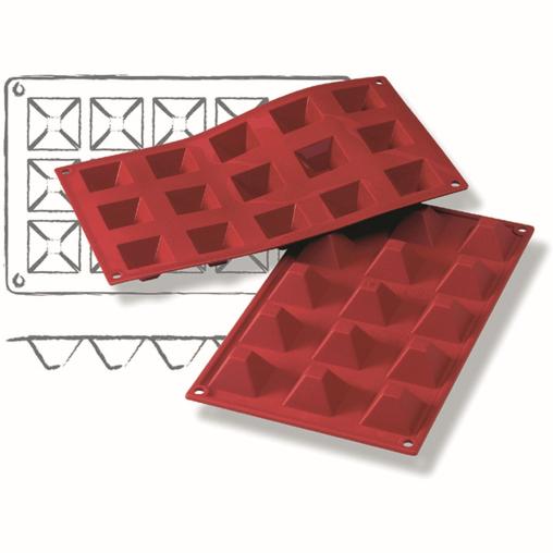 SCHNEIDER Silikon-Backform, Pyramide, rot