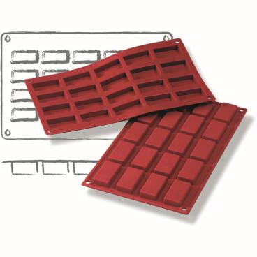 SCHNEIDER Silikon-Backform, Rechteck, rot