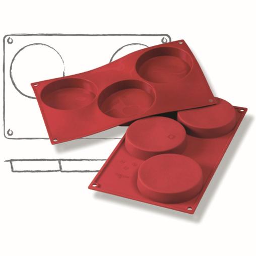 SCHNEIDER Silikon-Backform, Biskuit, rot