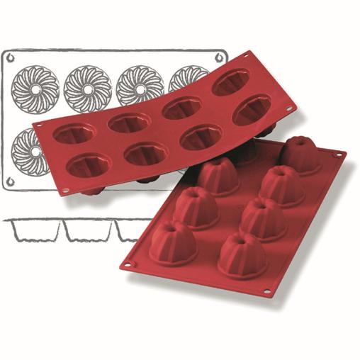 SCHNEIDER Silikon-Backform, Mini-Gugelhupf, rot