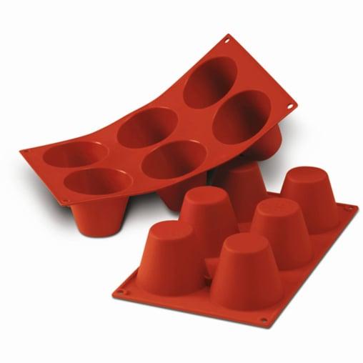 SCHNEIDER Silikon-Backform, Muffin groß, rot