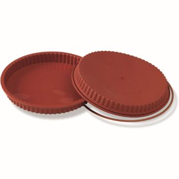 SCHNEIDER Einzelne Silikon-Backform, gezackt, rot