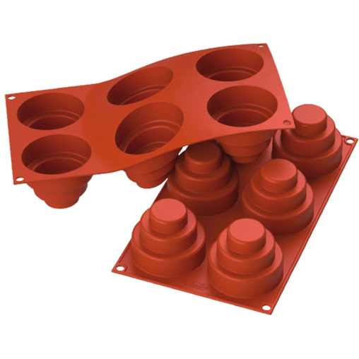 SCHNEIDER Silikon-Backform, Mini-Kuchen, rot