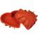 SCHNEIDER Einzelne Silikon-Backform, Herz, rot