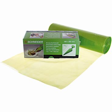 SCHNEIDER Einweg-Spritzbeutel, ECO, 70 my, grün 1 Box = 1 Rolle à 100 Stück, 350 x 195 mm