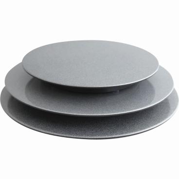 SCHNEIDER Tortenplatte, Melamin, silber/schwarz Höhe: 30 mm, Ø 240 mm