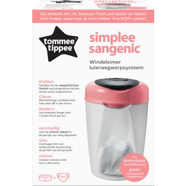 Sangenic Simplee Windeleimer Farbe: weiß / pink
