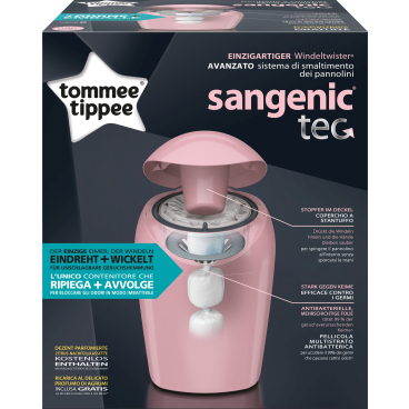 Sangenic Tec Windeltwister Farbe: pink