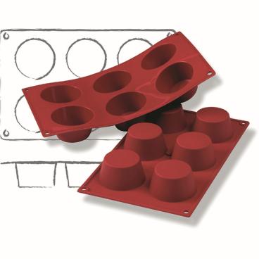 SCHNEIDER Silikon-Backform, Muffin, rot Höhe: 35 mm, Ø 69 mm