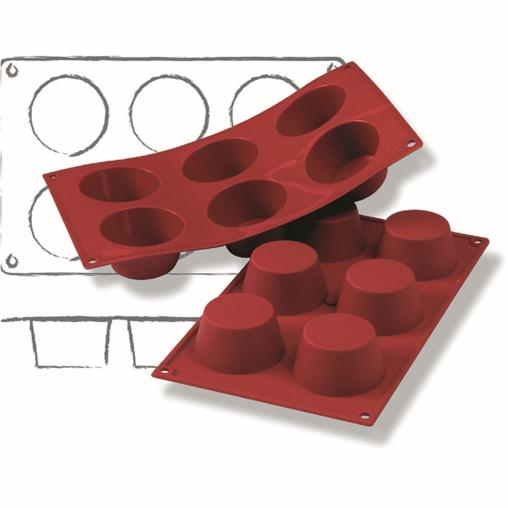 SCHNEIDER Silikon-Backform, Muffin, rot